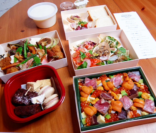 NYの和食レストラン、ミフネ(MIFUNE)初の宅配セット、特製ちらし寿司うに・まぐろ追加トッピング・バージョン_b0007805_02071520.jpg