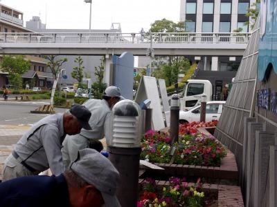 ガーデンふ頭総合案内所前花壇の植替えR2.5.18_d0338682_14090221.jpg