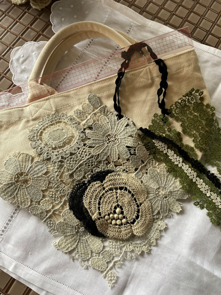 Lace セット in トートバッグ_c0126189_18523462.jpg