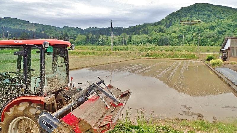 土曜日、兼業農家は「田掻き作業」でした_c0336902_20084488.jpg