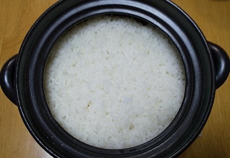 土鍋炊飯やや成功_c0280322_09293575.jpg