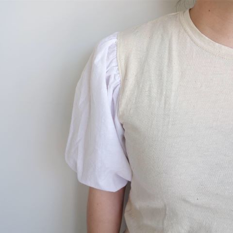 KROMALUDI : Gara-bow×Khadi T-shirts_a0234452_13265505.jpg
