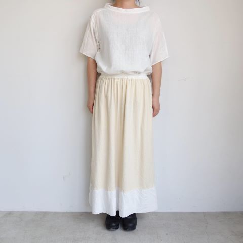 KROMALUDI : Gara-bow×Khadi Skirt_a0234452_14110038.jpg