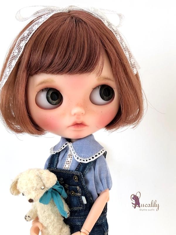 *lucalily * dolls clothes* Denim salopette pants set *_d0217189_17204230.jpg