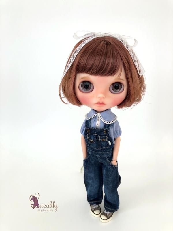 *lucalily * dolls clothes* Denim salopette pants set *_d0217189_17205015.jpg