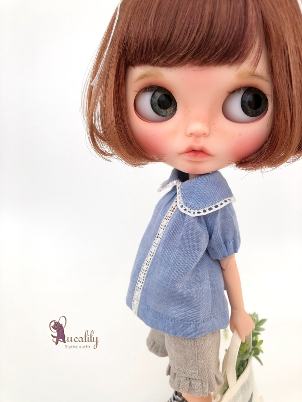 *lucalily * dolls clothes* Denim salopette pants set *_d0217189_17205481.jpg
