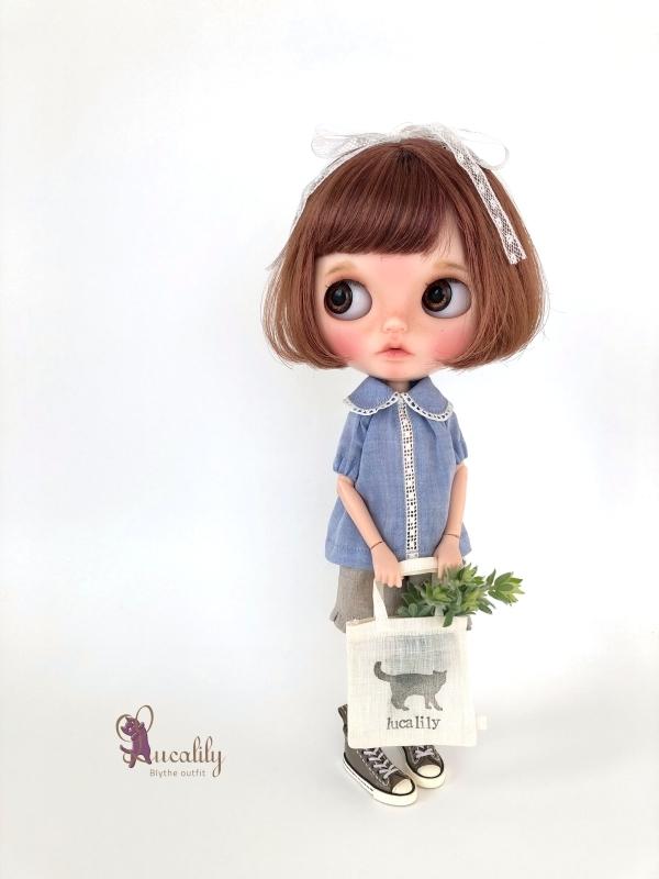 *lucalily * dolls clothes* Denim salopette pants set *_d0217189_17205941.jpg