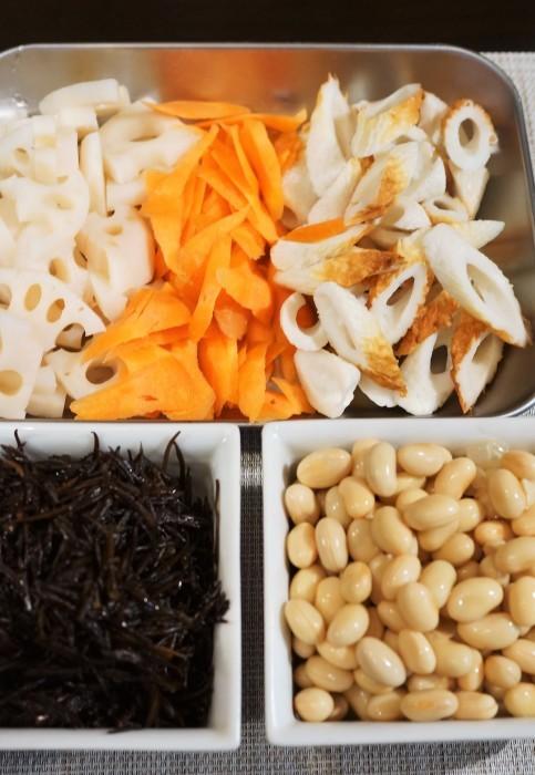 ■和食副菜【五目ヒジキ煮 作り置きにも重宝します♪】_b0033423_21183065.jpg