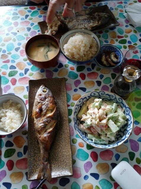 イサキの塩焼き定食🐟_c0162773_19103616.jpg