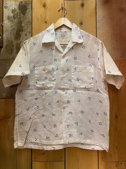 5月23日(土)11:30~マグネッツ大阪店オンラインストア夏物ヴィンテージ入荷!!#4 Vintage Shirt編Part2!!1940\'s~レーヨン&コットンボックスシャツ!!_c0078587_17130390.jpg