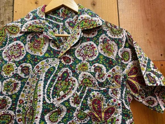 5月23日(土)11:30~マグネッツ大阪店オンラインストア夏物ヴィンテージ入荷!!#4 Vintage Shirt編Part2!!1940\'s~レーヨン&コットンボックスシャツ!!_c0078587_18070768.jpg