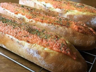 明太フランスパンと大きなクッキーシュー_f0231189_17564743.jpg