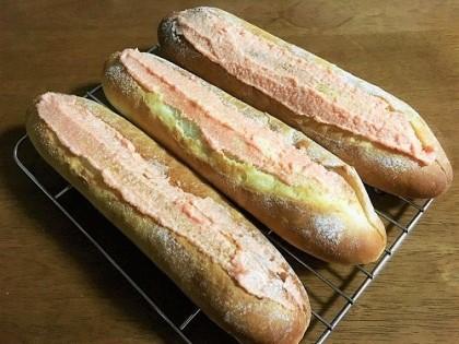 明太フランスパンと大きなクッキーシュー_f0231189_17565656.jpg