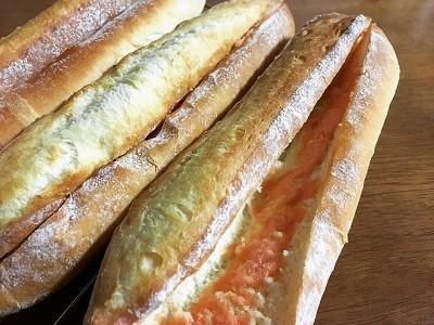 明太フランスパンと大きなクッキーシュー_f0231189_17595267.jpg