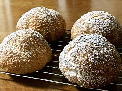 明太フランスパンと大きなクッキーシュー_f0231189_22184358.jpg