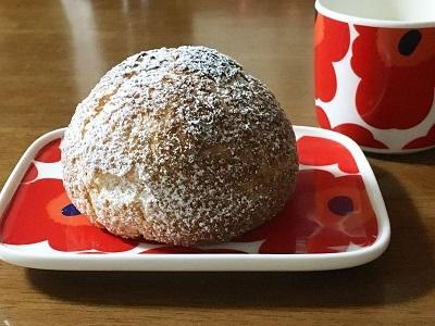 明太フランスパンと大きなクッキーシュー_f0231189_22190251.jpg