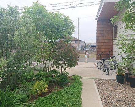 中庭・緑豊かなアプローチの様子_b0183404_12305154.jpg