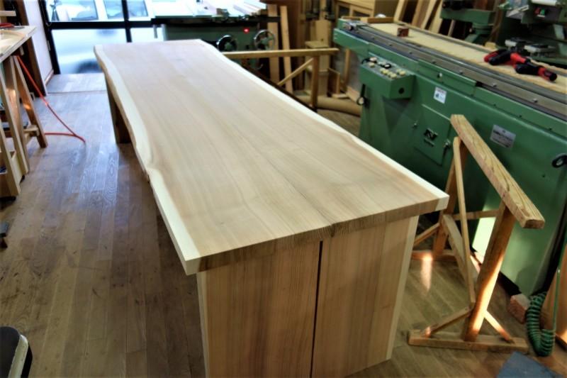 杉柾目 2枚ハギ テーブル、カウンター_e0156341_07083516.jpg