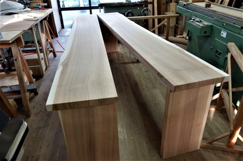 杉柾目 2枚ハギ テーブル、カウンター_e0156341_07083939.jpg