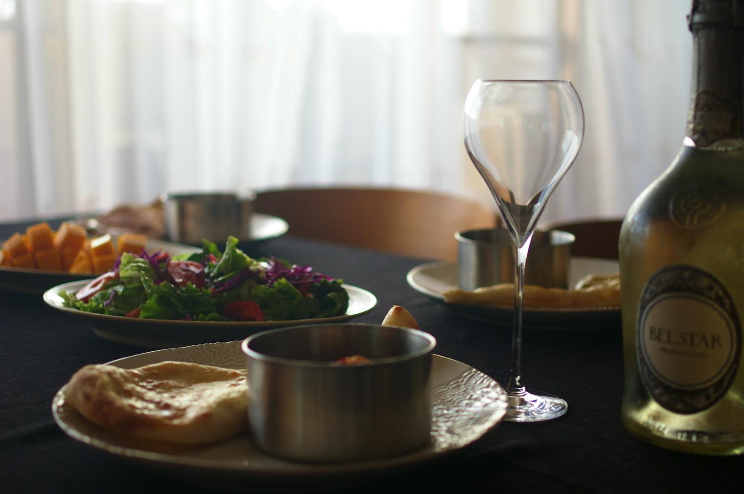 手作りナンと豚バラスパイスカレー:料理教室再開に向けて_d0327373_18555045.jpg
