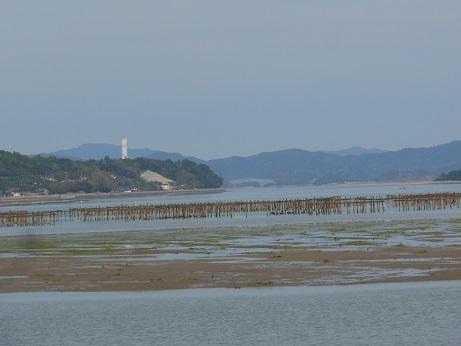 三津口湾の大干潟、向こうに見えるのは…_e0175370_20505369.jpg