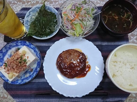 5/24宣言下47日目 ハンバーグ定食@自宅_b0042308_19204252.jpg