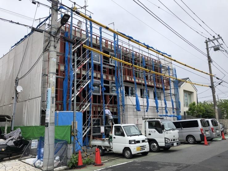 りぶうぇる練馬ティサービスセンター(17)  外壁材・耐火被覆材施工_b0074416_00035212.jpeg