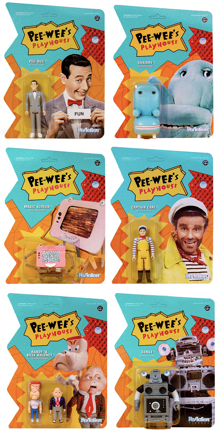 Pee-wee\'s Playhouse 3 3/4-Inch ReAction Figures_e0118156_16103962.jpg