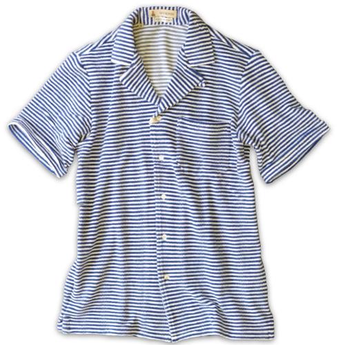 GUY ROVER ギ・ローバー パイルジャージー オープンカラーシャツ・営業時間変更のお知らせ_c0118375_16284941.jpeg