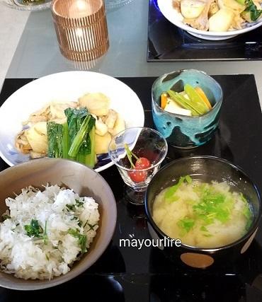 セリご飯で一汁三菜_d0169179_23552195.jpg