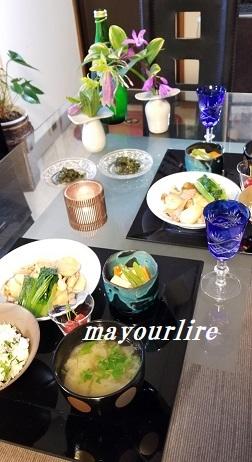 セリご飯で一汁三菜_d0169179_23562241.jpg