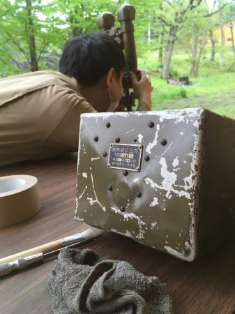 過日新倉庫にて接眼調整済の九三式砲隊鏡。_a0154482_08551333.jpg