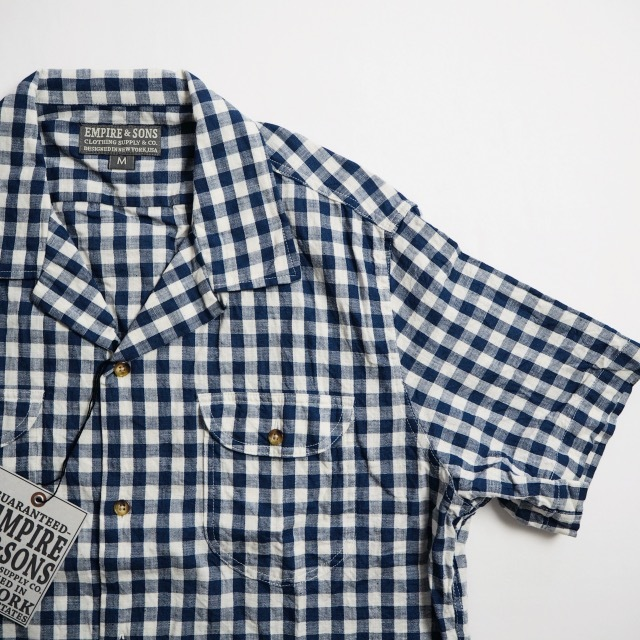"""EMPIRE&SONS \""""S/S CAMP SHIRT SELVAGE CHECK\""""_a0122933_18174324.jpg"""
