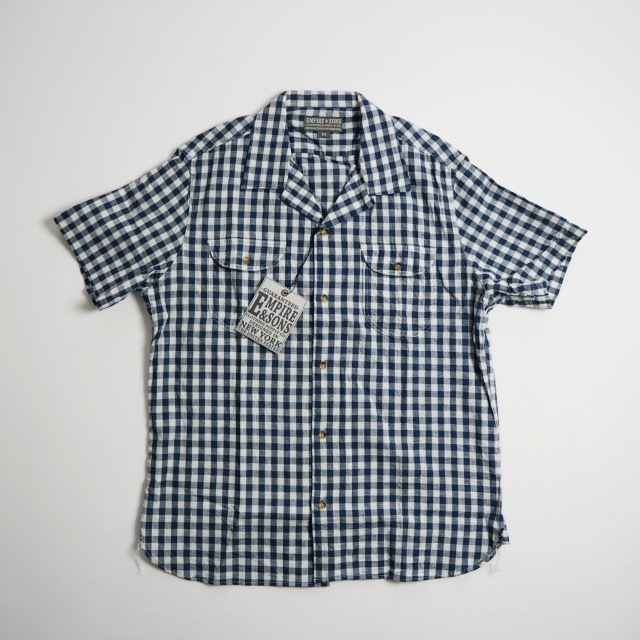 """EMPIRE&SONS \""""S/S CAMP SHIRT SELVAGE CHECK\""""_a0122933_18174380.jpg"""