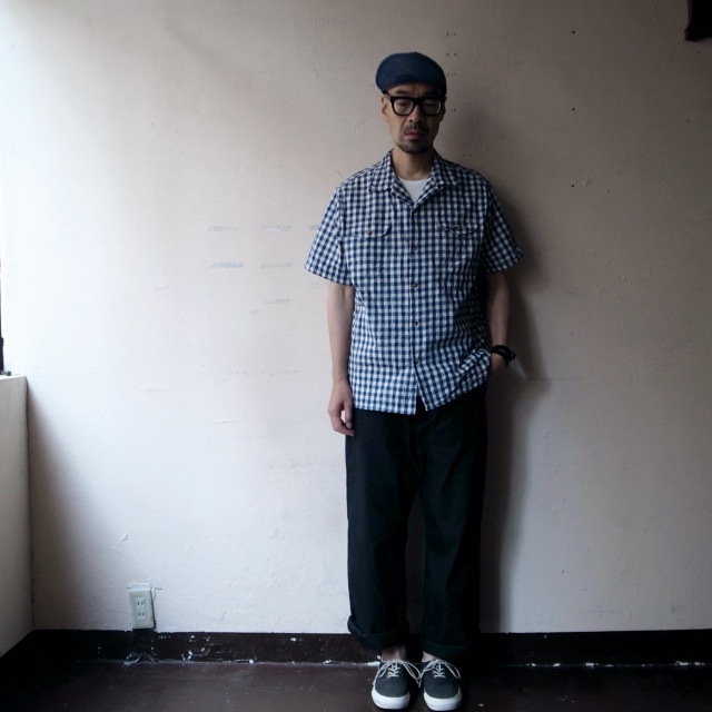 """EMPIRE&SONS \""""S/S CAMP SHIRT SELVAGE CHECK\""""_a0122933_18175064.jpg"""