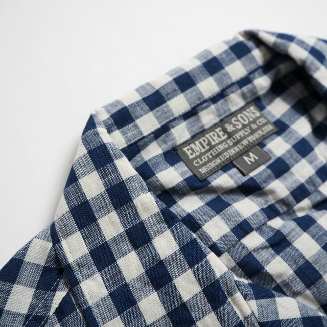 """EMPIRE&SONS \""""S/S CAMP SHIRT SELVAGE CHECK\""""_a0122933_18175078.jpg"""