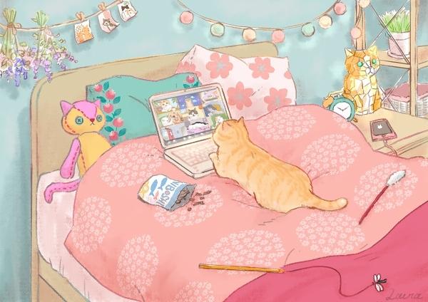 猫の皆さんも「新しい生活様式」 オンライン集会_d0025294_16460191.jpg