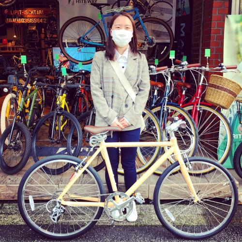 ☆本日のバイシクルガール☆ 自転車女子 自転車ガール ミニベロ クロスバイク ライトウェイ ターン riteway tern シェファード  クラッチ ブルーノ おしゃれ自転車 マリン シェファード_b0212032_15323282.jpeg