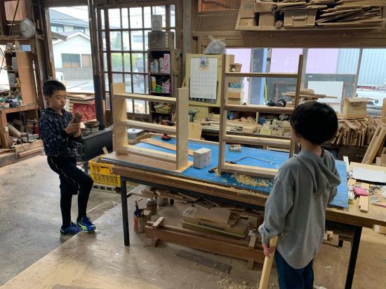 急遽木工教室 本棚作り_f0053665_00122437.jpg