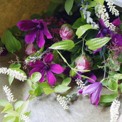 オークリーフ(芍薬と鉄線の花束)_f0049672_19561764.jpg