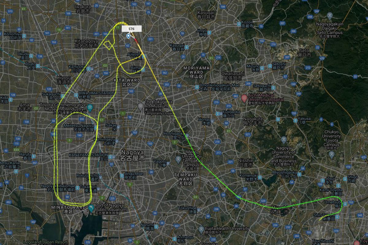 ミッドランドスクエアに飛来するトヨタの定期ヘリコプター便_a0177616_21321102.jpg