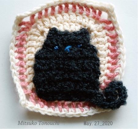ねこモチーフ     Cat granny square_b0029036_10491149.jpg
