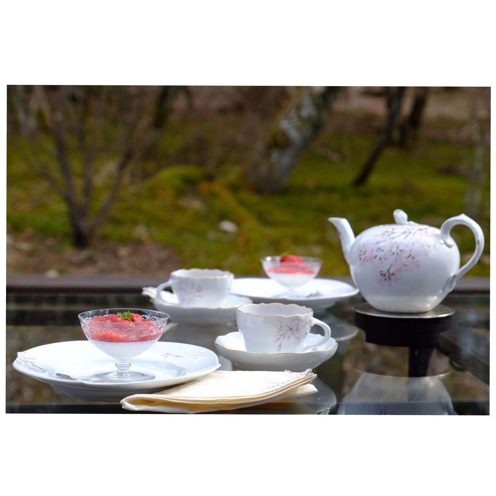 桜を描いた器でお茶時間_a0335867_21272525.jpeg