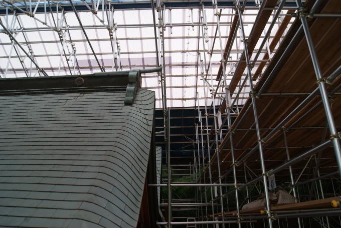本殿 素屋根設置・各種調査  R2.5.28_f0191383_14453480.jpg