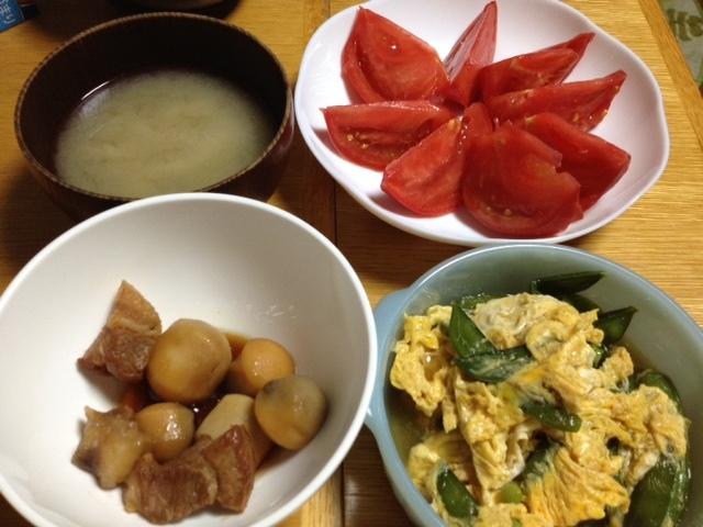 豚バラと里芋の煮物_e0097895_21424122.jpg