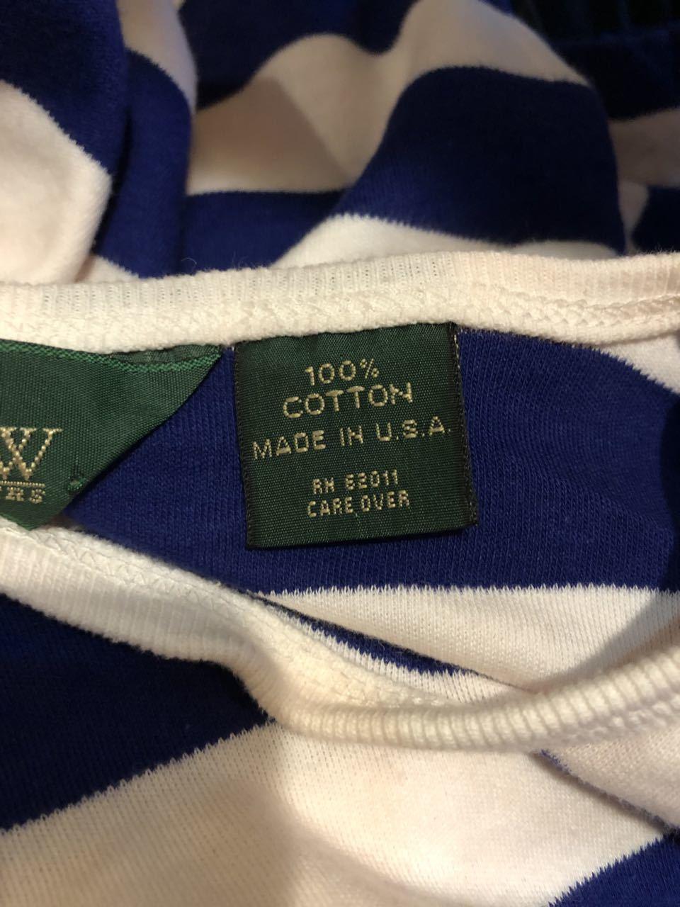 90s アメリカ製  J. CREW  J.クルー ボーダーTシャツ!_c0144020_14083479.jpg
