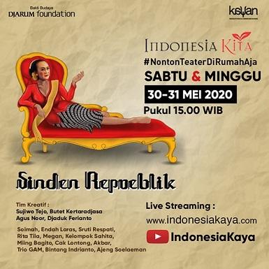 インドネシアのシンデン(ワヤンの歌い手):SINDEN REPUBLIK (初演2015 演出:Sudjiwo Tedjo) オンライン公開 30-31 Mei 2020 _a0054926_16264542.jpg