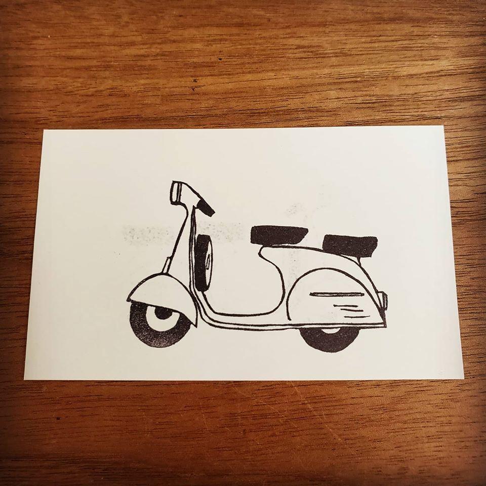 ベスパ風なスクーターはんこ彫りました♪_d0085328_15110002.jpg