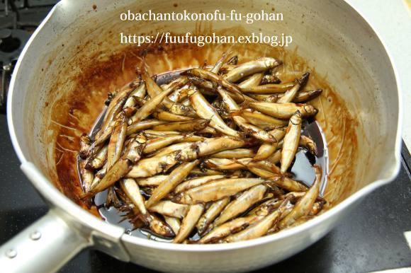 近江牛の赤ワイン煮DEおうちバル&琵琶湖産小鮎の甘露煮炊きました。_c0326245_11074407.jpg