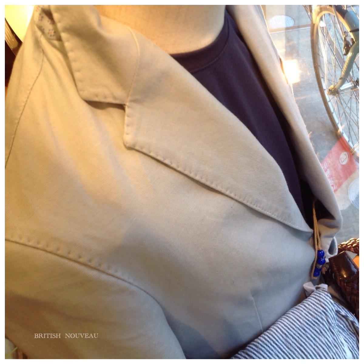 Cotton  linen stretch Jacket  ٩(^‿^)۶_f0039487_11060618.jpg